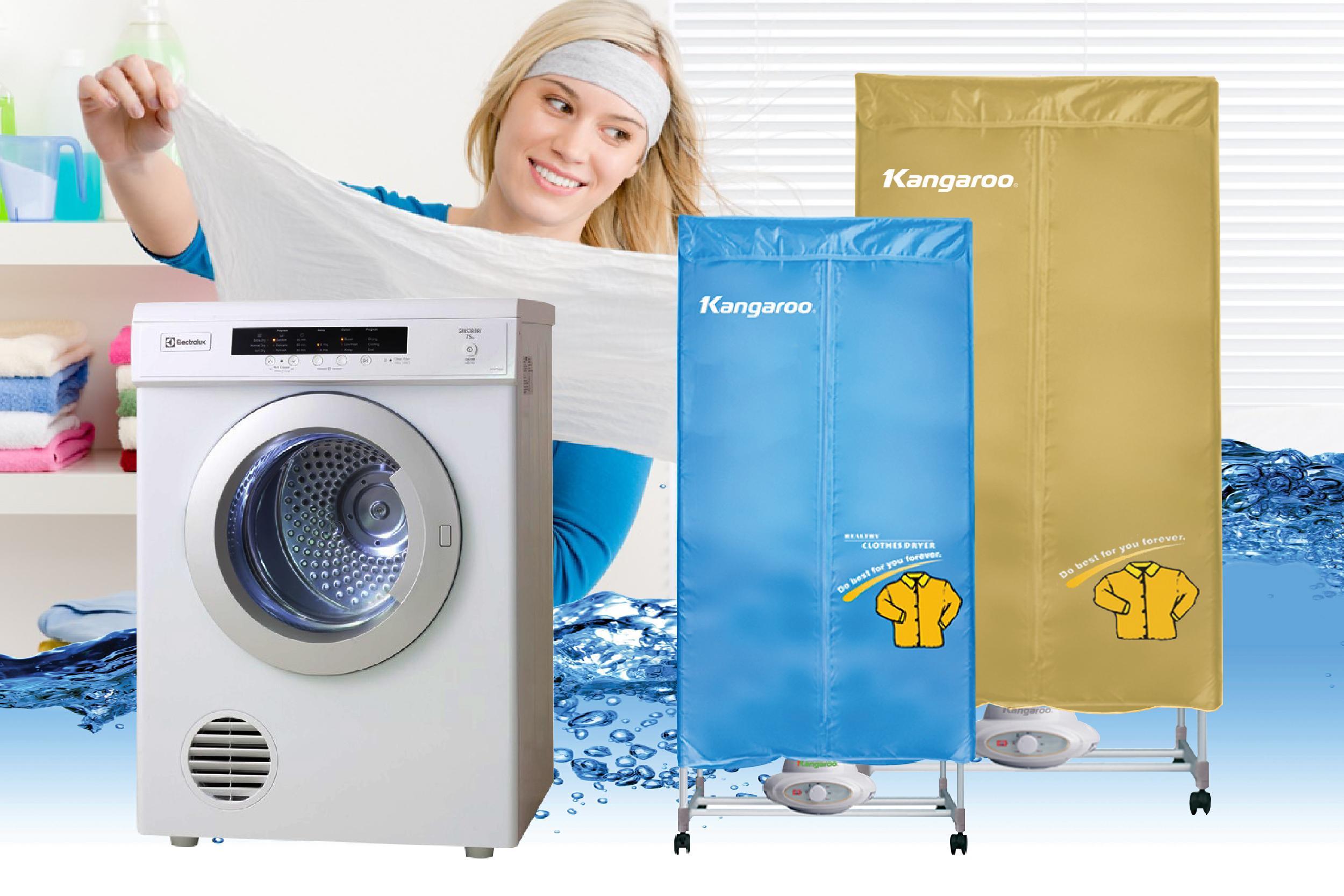 chọn mua tủ sấy hay máy sấy quần áo cho mùa đông