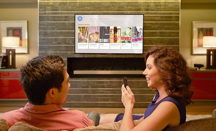 Một số Smart tivi có hỗ trợ tìm kiếm bằng giọng nói (có tiếng Việt)